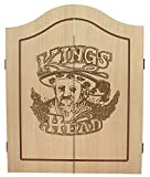 Best Sporting Dart-Kabinett Kings Head Dart-Schrank in Holz-Optik mit Flgeltren (Kabinett)