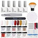 Saint-Acior Dipping Nail Glitter Uñas Base Activador Pinceles Professional Kit