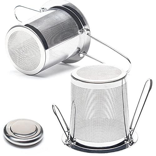 Filtro Da tè Per Tteiere, Colino Da tè Con Coperchio, Infusore Per tè In Acciaio Inossidabile, Filtri Da tè Per Foglie Sfuse è Adatto Per Tazze, Bicchieri, Tazze Da Tè