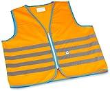 Wowow Fun-Warnweste für Kinder Orange fluoreszierend Taille M (8-10ans)