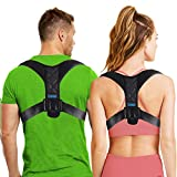 Comezy Back Posture Corrector for Women & Men - Powerful Magic Stickers Adjustable Clavicle Back Brace - Providing Pain Relief from Neck, Back and Shoulder