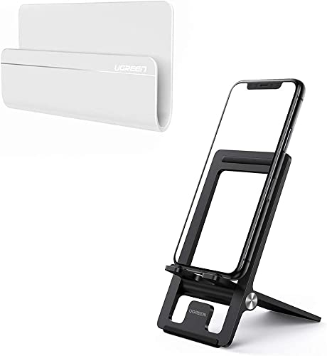new arrival UGREEN Wall Mount Phone Holder Adhesive with Phone Stand Bundle Compatible for iPhone 11 Pro lowest Max SE XR wholesale X XS 8 7 6 Plus 6S, Samsung Galaxy S20 Ultra S10 S9 S8 Note 10 9 8 Smartphone sale