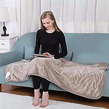 بطانيات سميكة للشتاء، بطانية التدفئة بطانية كهربائية مع 6 اعدادات للحرارة، وسادة تدفئة كهربائية يمكن توقيتها لـ 1 - 3 ساعا...