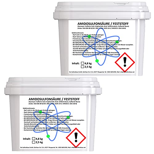 Cleanerist 2 x 4,8 kg | Ácido amidosulfónico | Vegano | para descalcificar y limpiar cafeteras automáticas, máquinas de café, hervidores de agua | Bio I 99,8% de pureza