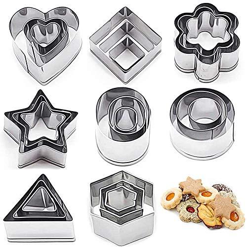 Keksausstecher, Mini Geometrische Cookie Keks Ausstecher Set, Ausstechformen, Perfektes Accessoire für Kekse, Kuchen, Kuchendekoration, Weihnachtsbacken
