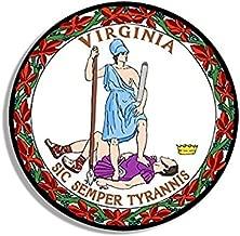 Round FULL COLOR Sic Semper Tyrannis Sticker (va virginia decal)- Sticker Graphic Decal