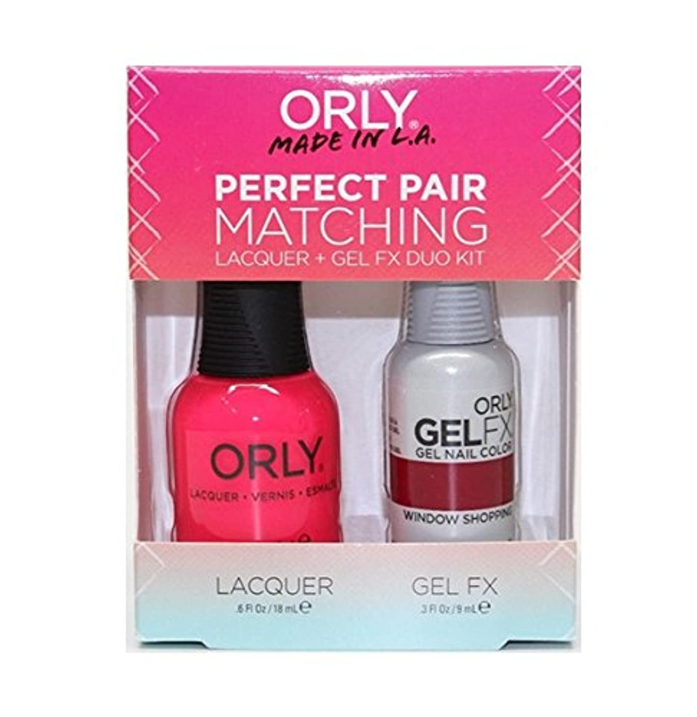 願う島混雑Orly - Perfect Pair Matching Lacquer+Gel FX Kit - Window Shopping - 0.6 oz / 0.3 oz