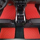 Handao-US Car Floor Mats para R enault Scenic Koleos Laguna Megane Latitude impermeable antideslizante cuero piso Liners 4 unids/set rojo