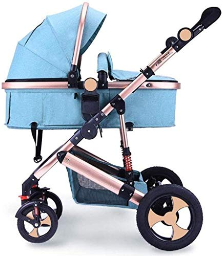 Cheapest Price! GPWDSN Pushchair Organiser Bag Pink, Baby Stroller High Landscape Can Sit Horizontal...