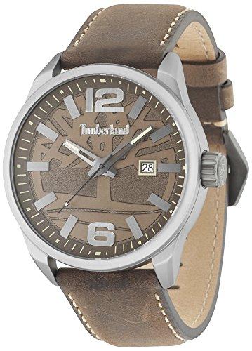 Timberland Reloj Analógico para Hombre de Cuarzo con Correa en Cuero 15029JLU/12