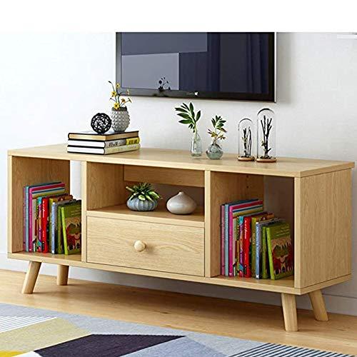 SXFYWJ Mueble De TV Muebles Nogal Roble Mesas Televisor con Estanteria Mesa Alta Diseño Televisión Nordico Comedor Moderno para Salon Altas