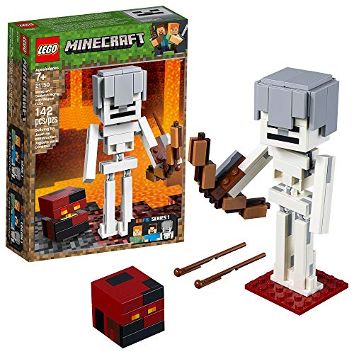 LEGO Minecraft BigFig Skeleton with Magma Cube Building Kit (142 Pieces) (Discontinued by Manufacturer)