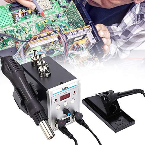 Estación desoldadora de soldadura, estación desoldadora automática de pistola de aire caliente resistente a la corrosión, enchufe europeo de 250 V para soldadura de reparación de teléfonos