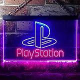 Playstation Game Room Kid LED看板 ネオンサイン バーライト 電飾 ビールバー 広告用標識 レッド+ブルー W40cm x H30cm