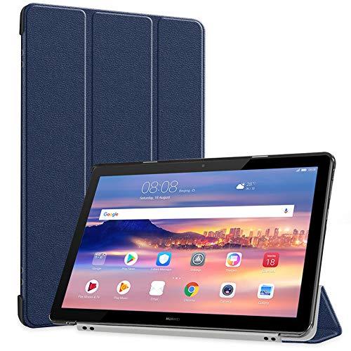 HUA-WEIMediaPadT510タブレットケースTopACE超薄型スマートケーススタンド機能付き高級PUレザーケースHUA-WEIMediaPadT51010.1インチ対応(ブルー)