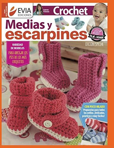 CROCHET MEDIAS Y ESCARPINES: para abrigar los pies de los más chiquitos