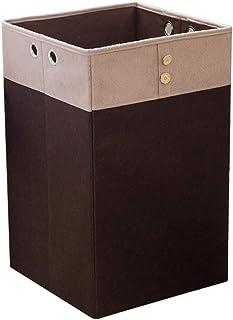 Boîte de rangement Xuan - Worth Having Panier à Linge Pliable en Coton feutré (Color : Brown, Size : 40 * 40 * 63cm)