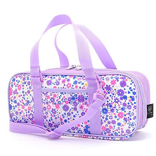 絵の具バッグ おけいこかばん パステルフラワーのエアリーシャワー(ブルー) N2115800