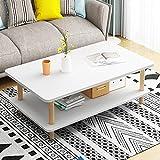 Mesas de centro Una mesa pequeña mesa de café, pequeño apartamento, casa, salón, moderno y sencillo, simple y creativo, doble mesa de café, mesa de té de madera, mesa de centro ovalada, sala de estar,