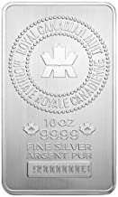 2019 No Mint Mark Canada 10 Silver Bar RCM 10 oz Seller Brilliant Uncirculated