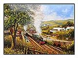 James Hamilton 1000 T. Puzle de 69 x 48 cm, tren, tren y tren