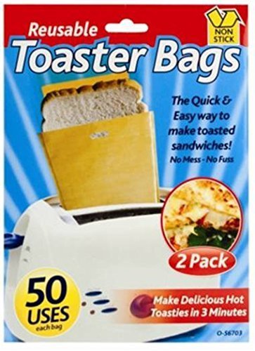 Toaster bags reusable Toastie pouches non stick toasted sandwich food bags by ITP