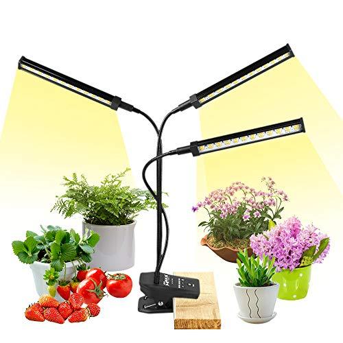 NaCot 【Upgrade】 72W LED Pflanzenlampe, Pflanzenlicht 144 Led Vollspektrum Pflanzenleuchte 0-100{3c5d6a05d3bc4e4086f4d65439b1d3426bcf8d5b54c38231e8a15dd7795f96db} Dimmen, Wachsen licht mit Timer für Zimmerpflanzen