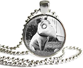 Frankenweenie Sparky 1 Inch Silver Plated Pendant Necklace