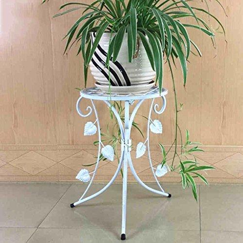 CKH Européenne en Fer Forgé Fleur Rack Simple Au Sol Intérieur Salon Balcon Vert Suspendu Orchidée Pot De Fleurs Simple Tablette Blanc
