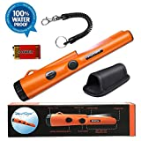 Fully Waterproof Pinpoint Metal Detector Pinpointer - Include a 9V Battery, 360°Search Treasure Pinpointing Finder Probe with Belt Holster for Adults and Kids (Three Mode)