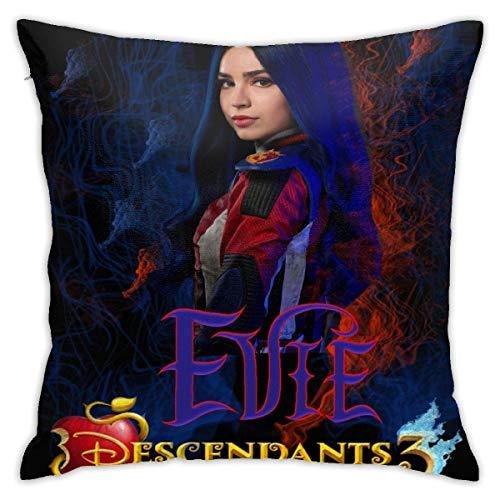 ytuytiutfi Descendants 3 Evie Decorative Square Cushion Cover, Sofa Bedroom Car Cushion Cover 18 X 18 Inches