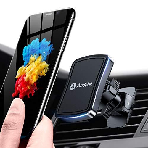 andobil handyhalterung Auto Magnet mit 4 Metallplatten[Überlegene Stabilität & Schützt Phone] Lüftung Magnethalter Handyhalter für alle Smartphones iPhone11 11Pro, Samsung S20 S10, Xiaomi, Huawei usw