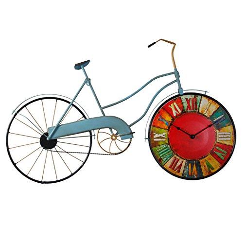HYLR Modellazione Bicicletta Retro Orologio Decorazione casa da Soggiorno Decorazione Creativa Orologio da Parete Arte Modern Wall Clock