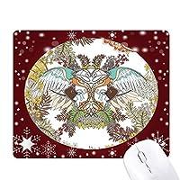 浮世絵の翼の花・木・ジャパン オフィス用雪ゴムマウスパッド