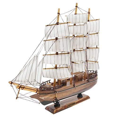Outtybrave - Joyería creativa para decoración del hogar, artesanías de madera, modelo mediterráneo de velero, decoración de simulación de barco