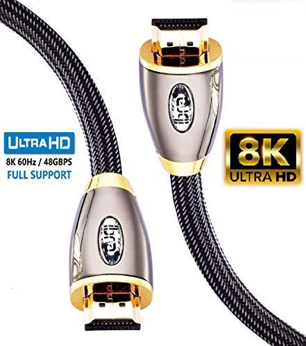 Cavo HDMI rosso IBRA 2.1 Cavo ad altissima velocità 8K 48 Gbps Supporta 8K @ 60HZ, 4K @ 120HZ, 4320p, Supporta Fire TV, Supporto 3D, Funzione Ethernet, 8K UHD, Xbox 3D PlayStation PS3 PS4, ecc-2M