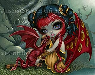 """""""Amber Dragonling"""" SIGNED Glossy Photo Art Prints by Jasmine Becket-Griffith"""