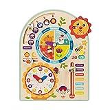 Tooky Toy Kalenderuhr Jahresuhr - Kinder-Spielzeug Holz-Spielzeug Lern-Spielzeug - schult