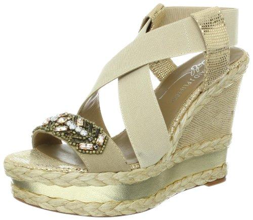 Donald J Pliner Women's Tiki Wedge Sandal,Gold,10 M US