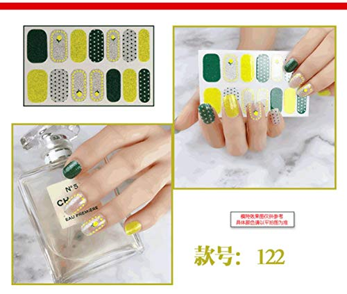 BGPOM French Nail Stickers Waterproof Durable Nail Stickers for Pregnant Women Available 10 Sheets/Set,122