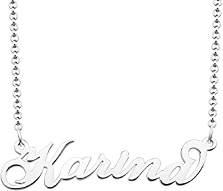Personalized Gift 925 Sterling Silver Custom Name Necklace