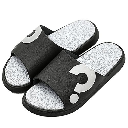 Lamoy Sandalias Chanclas para Mujer Sandalias De Gladiador para Mujer Ms Mujer Verano Medio Tacón Tacón Alto Sandalias Deslizantes Cuña Retro Cremallera Sólida Zapatos Abierta Sandalias-Black||37