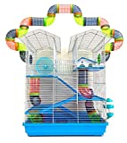 Best Hamster Cages - 5-Level Large Cross Twin Tower Tube Tunnel Habitat Review