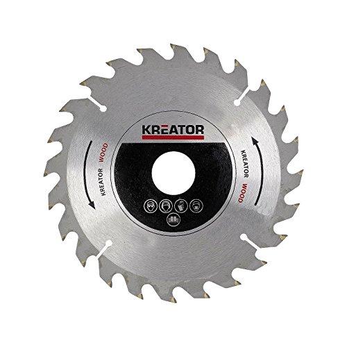 KREATOR KRT021600 KRT021600-Sierra von Pista Madera 165 mm 24t