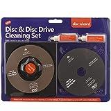 Kit limpiador de lentes láser 2 en 1 para reproductores de CD, DVD y Blu Ray y consolas PS3, Xbox...