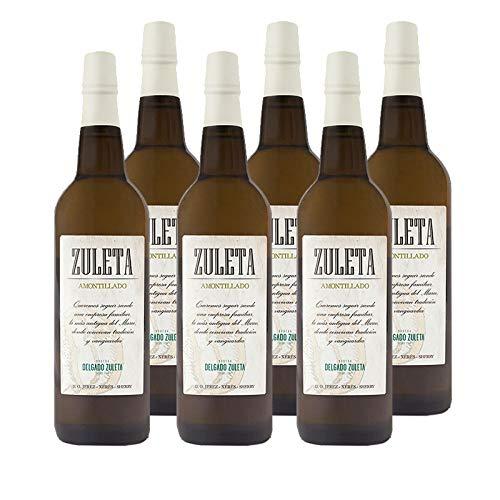 Vino Amontillado Zuleta de 75 cl - D.O. Jerez - Bodegas Delgado Zuleta (Pack de 6 botellas)