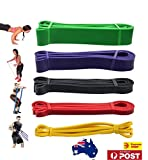 OZSTOCK® Set of 5 Heavy Duty Resistance Band Loop Power Gym Fitness Exercise