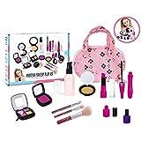 Amycute Maquillaje Niñas Set 12 Pcs Juego de Maquillaje Infantil Juguete Cosméticos No Reales Lavable Maquillaje, con Bolso de Cosméticos, Lápiz Labial, Sombras de Ojos Cumpleaños Regalo Navidad