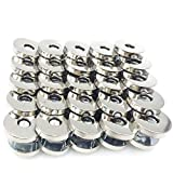 BALABALA 50 Sets 18mm Silver Tone Magnetic Buttons Snap Clasps for Handbag Purses Bags Clothes Leather Sewing Craft DIY