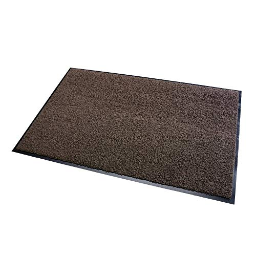 acerto 30204 Alfombrilla de protección Premium ZANZIBAR marrón 90x150cm * Extremadamente duradera * Exterior e interior * Resistente a las heladas * Libre de PVC - Limpia puerta de entrada Alfombrilla